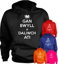 Gan Bwyll A Daliwch Ati Welsh Keep Calm Wales New Hoodie Gift Present S-XXL