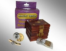 Magic Tricks- RING CHEST(Mini Deluxe) Polished Wood
