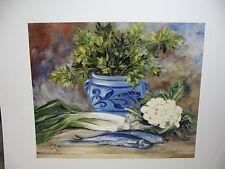 Ute von der Wehl - 30 x 24 cm -Stillleben mit Fischen   (66)