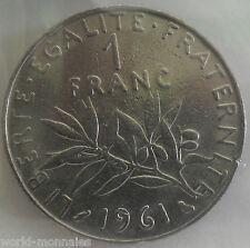 1 franc semeuse 1961 : TB : pièce de monnaie française