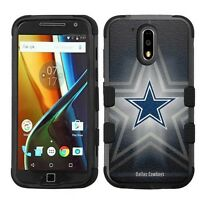 for Motorola Moto G4 Plus Impact Armor Rugged Hybrid Case Dallas Cowboys #B