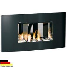Gel & Ethanol Kamin Kaminofen gebogene Glasfront OLYMPUS D schwarz