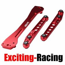 Rear Lower Control Arm + Subframe Brace Red For 1996-2000 Honda Civic EK
