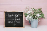 Wedding Decor CANDY BUFFET, Love is Sweet Have a Treat 8x10 CARDSTOCK Print ONLY