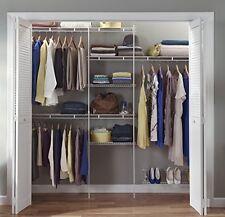 NEW Rubbermaid Configurations Custom Closet Organiser Shelf Hanger Kit White 8Ft