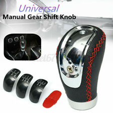 5 6 Speed Universal Leather Manual Car Gear Stick Shift Shifter Lever Knob 3 Ca