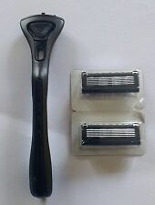 NEW King of Shaves KOS 5-Blade Razor handle holder + 2 cartridges NEW