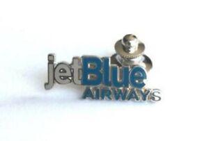 jet Blue Lapel Pin Tie Tack Collar Pull Clasp Enamel Enamel jetBlue Airways