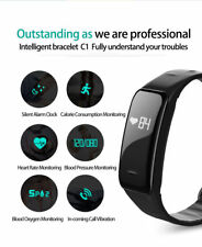 Bluetooth Smart Watch Heart Rate Blood Pressure Monitor Bracelet Fitness Tr