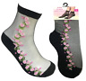 Sexy Fishnet Ankle High Socks Lady Mesh silk Lace floral design Socks 1 Pair UK