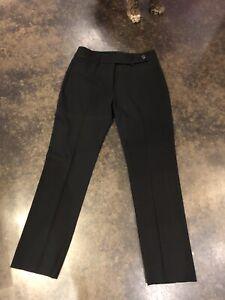 Piazza Sempione mid Black Wool Blend Slacks XS 40 4