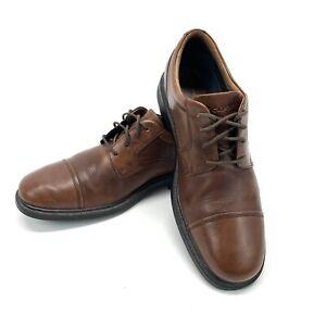 Rockport Adiprene Men's Leather Shoes Cap Toe Lace Brown Size 10 V80100 Vibram