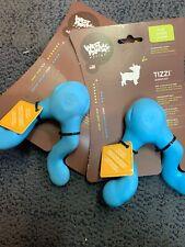 West Paw Design Zogoflex Tizzi Fetch Dog Toy Small Aqua (2 Pack) Brand New