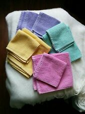 Matching towels and washcloths set--pink, yellow, blue-green, lavendar