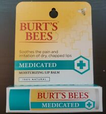 Burt's Bees Medicated Lip Balm - 0.15 oz - 4.25 g - 6 pack - New - Exp. 10/2021
