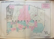 1942 DELAWARE CO PA MARPLE TWP PAXON HOLLOW GOLF COUNTRY CLUB KENT PK ATLAS MAP
