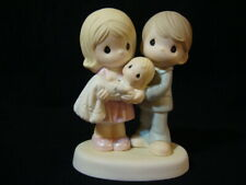 Precious Moments-Couple Holding Baby-Grow In The Light Of His Love-Hard To Find