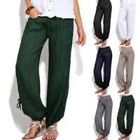 US Womens Loose Sports Harem Trousers Yoga Jogger Dance Pants Palazzo Plus Size