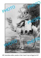 OLD LARGE PHOTO WWI AIF ANZACS IMPERIAL CAMEL CORPS 1917 EGYPT 1