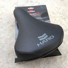 HARO CHEVRON SEAT BLACK RAILS WITH SEAT GUTS BMX BIKE BICYCLE PADDED SEATS