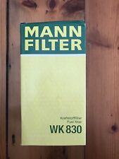 MANN Fuel Filter WK830 fits Holden Commodore VL 3.0 EFi Turbo RB30ET, VN 3.8 V6