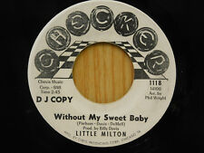 Little Milton 45 Without My Sweet Baby bw Help Me Help You   DJ   Checker VG+