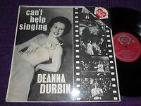 "DEANNA DURBIN  ""CAN'T HELP SINGING.""  UK LP   ACE OF CLUBS  MONO  AH 60"