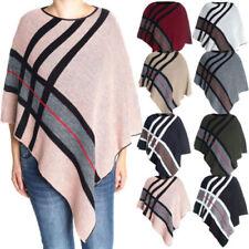 Gestreifte Damen-Pullover & -Strickware im Ponchos-Stil mit mittlerer Bundhöhe