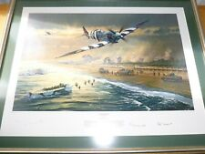 More details for framed anthony saunders juno beach ww2 aviation print
