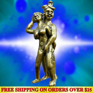 INN Lover Man Woman Attraction Lucky Love Thai Amulet Magic Talisman Charm Brass