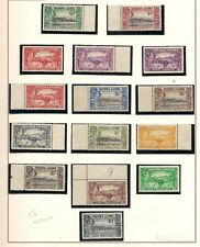 SIERRA LEONE  1938-44  definitive set  (ex 5d)  UMM & LMM