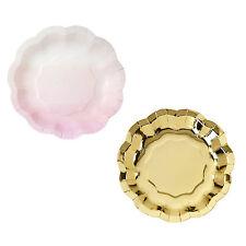 12 x Rosa & Oro Piatti Baby Shower Battesimo Bambina Compleanno Matrimonio