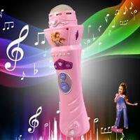 Girls LED Microphone Wireless Mic Karaoke Singing Kid Funny Gift Music Toy Pink