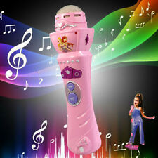 Girls LED Microphone Wireless Mic Karaoke Singing Kid Funny Gift Music Toy Pink