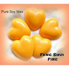 5 Feng Shui 'FIRE' chunky Soy Wax heart melts for oil burner to scent your home