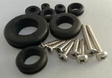 500PC STAINLESS STEEL SCREW & GROMMET ASSORTMENT PAN OVAL FLAT PHILIPS DRIVE