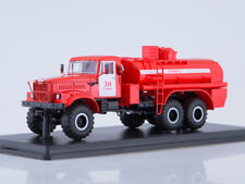 Scale model truck 1/43 The fire tank AC-8,5 (KRAZ-255B)