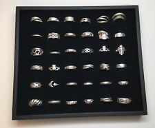 Lot Of 36 Sterling Silver Rings No Stones, Assorted Sizes (G)
