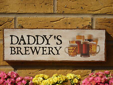 PERSONALISED GARDEN SHED SIGN BREWING SIGN HOME BREWING REAL ALES BEERS BITTERS