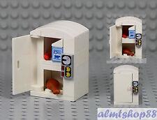 Lego - Fridge w/ Milk Juice Refrigerator Freezer Minifigure Kitchen Sausage Drum