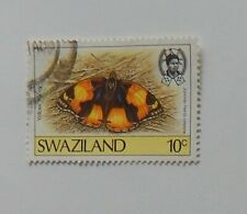 1987 SWAZILAND BUTTERFLY 10c POSTAGE STAMP USED