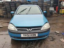 2000 - 2004 Vauxhall Corsa C A01 Front Bumper In Blue Z20N With Marks