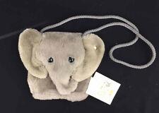 Original STEIFF Stuffed Animal PLUSH Gray Elephant Shoulder Bag PURSE Germany