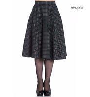 Hell Bunny 50s Skirt Vintage Pin Up Rockabilly PEEBLES Green Tartan All Sizes