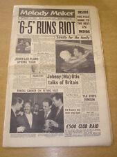 MELODY MAKER 1958 JANUARY 11 SIX FIVE SPECIAL ELVIS PRESLEY OTIS JERRY LEE +