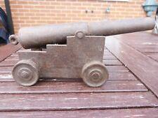 More details for vintage steel model of ships cannon