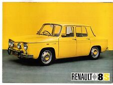 Renault 8 S 1100 1968-69 UK Market Foldout Sales Brochure