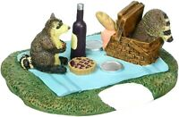 Woodland Raccoon Picnic Dept 56 Village Accessories 6001727 Christmas snow Z