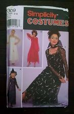Simplicity 9309 Halloween Costume Flowing Gothic Devil Angel Witch HH 6-12 Uncut