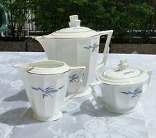 50 Jahre Bavaria PORCELLANA Filo Oro Teiera Set Zuccheriera Ceramica Vintage